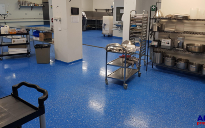 Pavimentación de cocina industrial