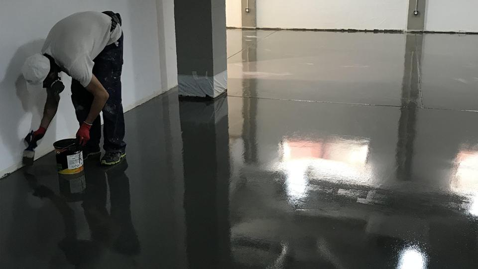 Pavimentación de gimnasio